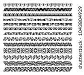 vector set of 13 decorative... | Shutterstock .eps vector #1043804929