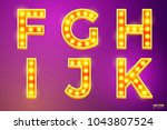 vector realistic glowing... | Shutterstock .eps vector #1043807524