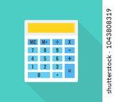 calculator icon. vector... | Shutterstock .eps vector #1043808319