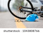accident car crash with bicycle ... | Shutterstock . vector #1043808766