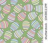 Easter Eggs Seamless Pattern...