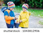 two little kids boys and... | Shutterstock . vector #1043812906