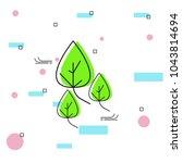 green energy line art. saving...   Shutterstock .eps vector #1043814694