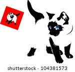 Siamese Cat Silhouette On A...