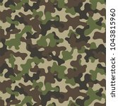 camouflage seamless pattern.... | Shutterstock .eps vector #1043815960