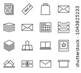flat vector icon set  ... | Shutterstock .eps vector #1043825233