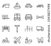 flat vector icon set   delivery ... | Shutterstock .eps vector #1043827498