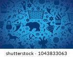 russian pattern wallpaper... | Shutterstock .eps vector #1043833063