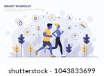 modern flat design people and... | Shutterstock .eps vector #1043833699