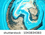 very beautiful marble art ocean ... | Shutterstock . vector #1043834383