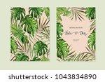 floral set. wedding invitation  ... | Shutterstock .eps vector #1043834890