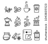 coffee icon set vector | Shutterstock .eps vector #1043835523