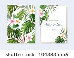 floral set. wedding invitation  ... | Shutterstock .eps vector #1043835556