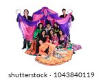 portrait of a gypsy dance group ... | Shutterstock . vector #1043840119