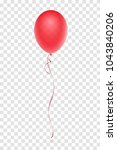 realistic red balloon isolated...   Shutterstock .eps vector #1043840206