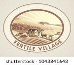 rural landscape in the frame in ... | Shutterstock .eps vector #1043841643