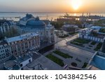 aerial image of sunrise over... | Shutterstock . vector #1043842546