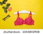 fashionable beautiful bra and... | Shutterstock . vector #1043843908