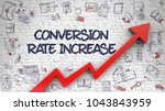 conversion rate increase... | Shutterstock . vector #1043843959
