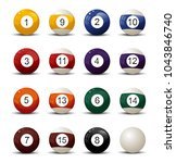 pool ball vector illustration... | Shutterstock .eps vector #1043846740