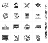 school and education icons  ... | Shutterstock .eps vector #104384744