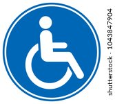 disabled wheelchair icon ...   Shutterstock .eps vector #1043847904