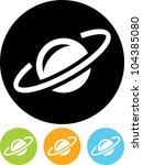 earth satellite orbit   vector... | Shutterstock .eps vector #104385080