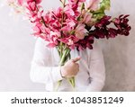 very nice young man in a white... | Shutterstock . vector #1043851249