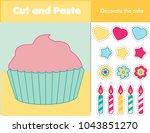 cut and paste children... | Shutterstock .eps vector #1043851270