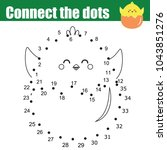 connect the dots children... | Shutterstock .eps vector #1043851276