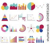 business data graphs. financial ... | Shutterstock .eps vector #1043851630