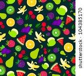 fruit vector background package ...   Shutterstock .eps vector #104385170