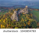trosky castle in bohemia... | Shutterstock . vector #1043854783