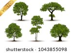 collection  beautiful tree... | Shutterstock .eps vector #1043855098