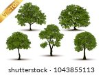 collection  beautiful tree... | Shutterstock .eps vector #1043855113