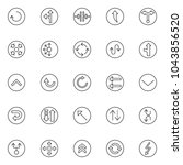 arrows variety outline icons... | Shutterstock .eps vector #1043856520