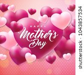 happy mothers day greeting card ... | Shutterstock .eps vector #1043857534
