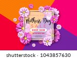 happy mothers day greeting card ... | Shutterstock .eps vector #1043857630