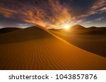 beautiful sand dunes in the... | Shutterstock . vector #1043857876