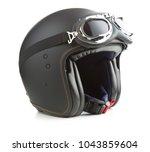 open face motorcycle helmet... | Shutterstock . vector #1043859604