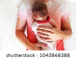 handsome father holding his...   Shutterstock . vector #1043868388