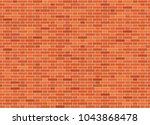 vector seamless flemish bond... | Shutterstock .eps vector #1043868478
