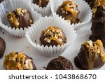 homemade healthy chocolate... | Shutterstock . vector #1043868670