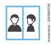 arrested criminal icon | Shutterstock .eps vector #1043869258