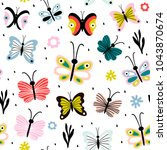 seamless pattern with... | Shutterstock .eps vector #1043870674