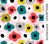 seamless pattern with creative... | Shutterstock .eps vector #1043870686