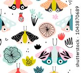 seamless pattern with... | Shutterstock .eps vector #1043870689