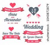 wedding retro vintage vector...   Shutterstock .eps vector #1043872879