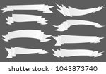 many kind of ribbon ribbin... | Shutterstock .eps vector #1043873740
