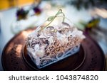 wedding earrings and rings | Shutterstock . vector #1043874820